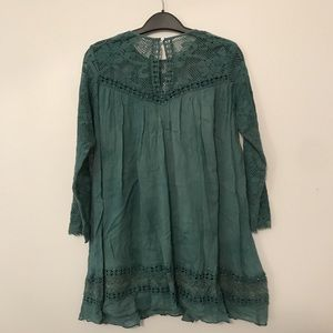 Free People Tops - teal lace free people tunic